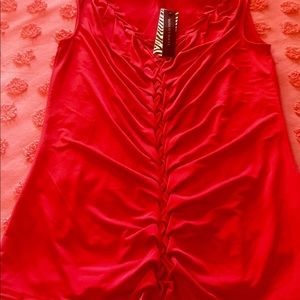 Dana Buchman red blouse Small